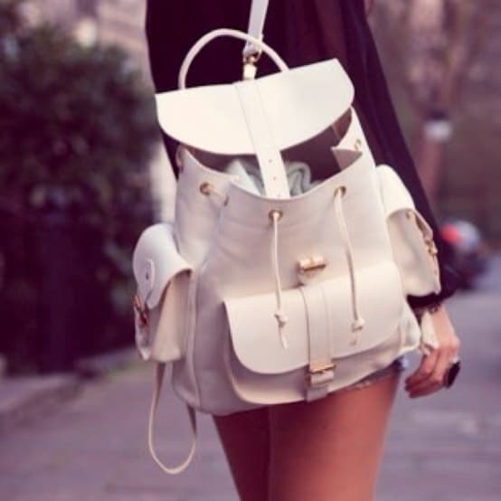 white backpack style The Backpacks Are Back! Yes Or No To This 90s Trend?