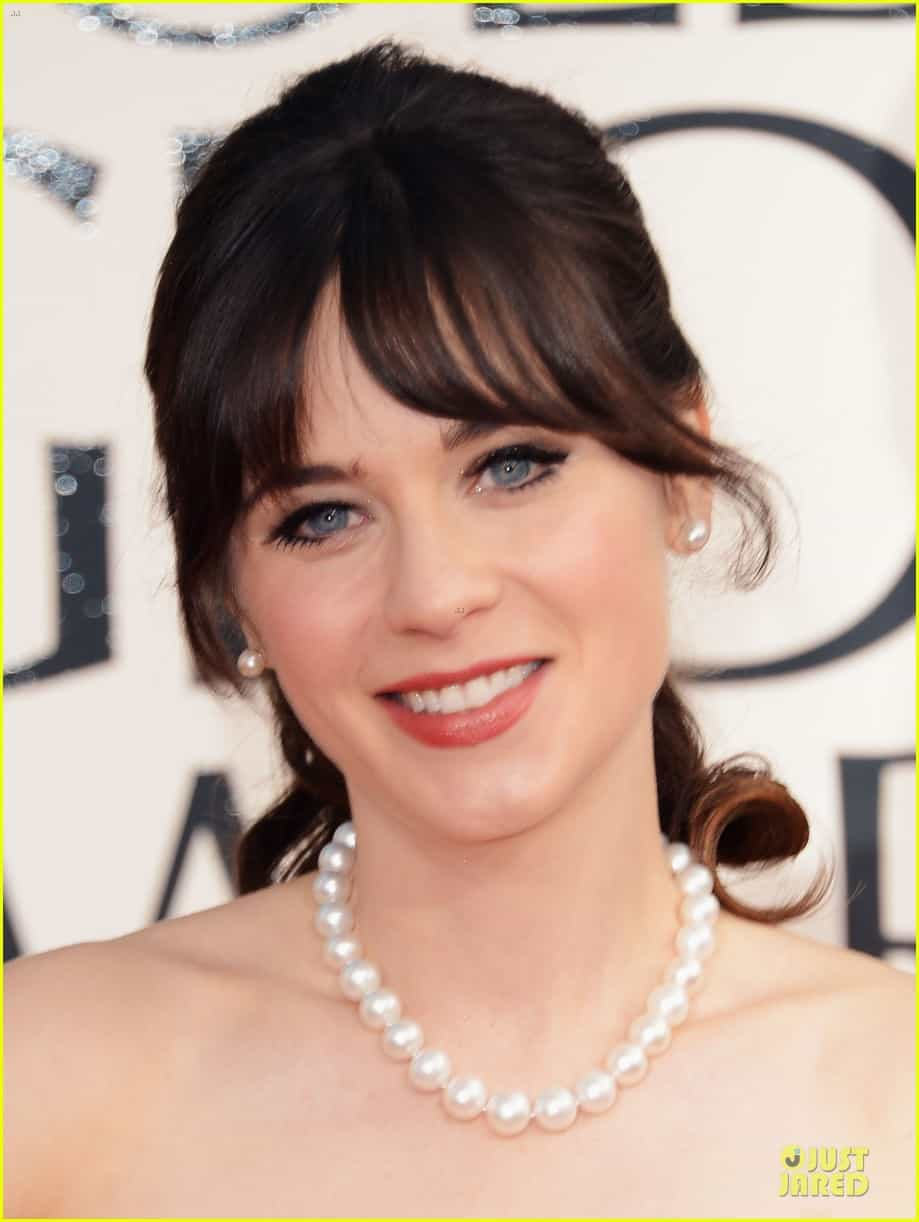 zooey-deschanel-golden-glboes-2013-makeup-hair