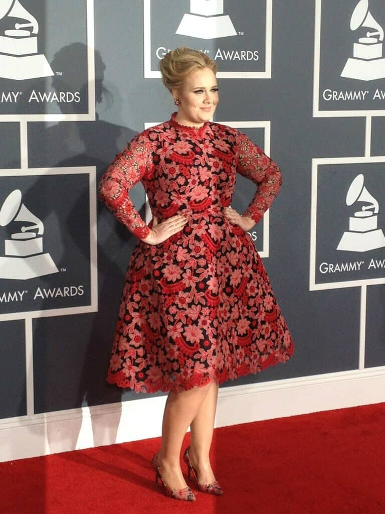 adele-grammy-2013-red-carpet