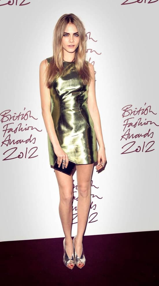 Cara-Delevingne-burberry-dress