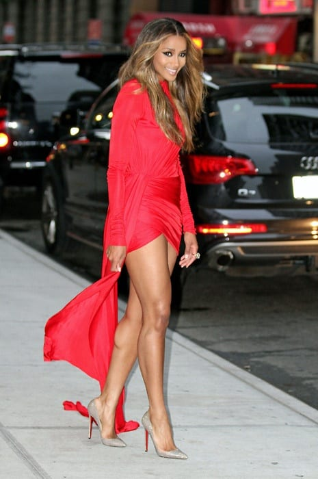 ciara-red-dress-valetine'sday
