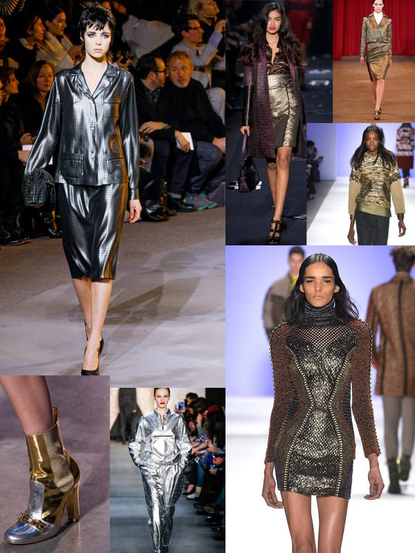 metallics fall 2013 1 ... More Trends Spotted At New York Fashion Week!