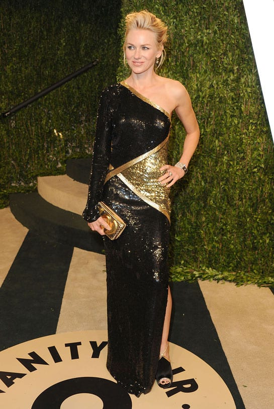 naomi watts en emilio pucci oscars2013 afterparty How Celebrities Partied After The Oscars? Sneak Peak Into The Vanity Fair After party...