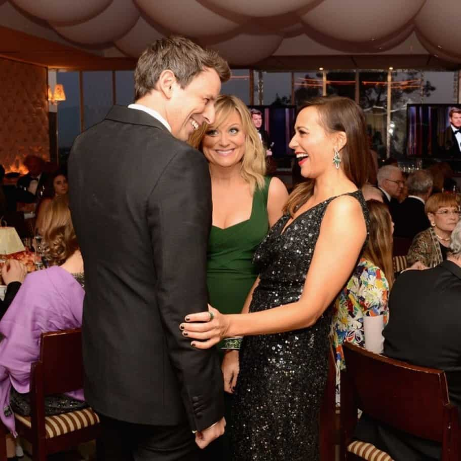 Seth-Meyers-Amy-Poehler-Rashida-Jones-oscar-party