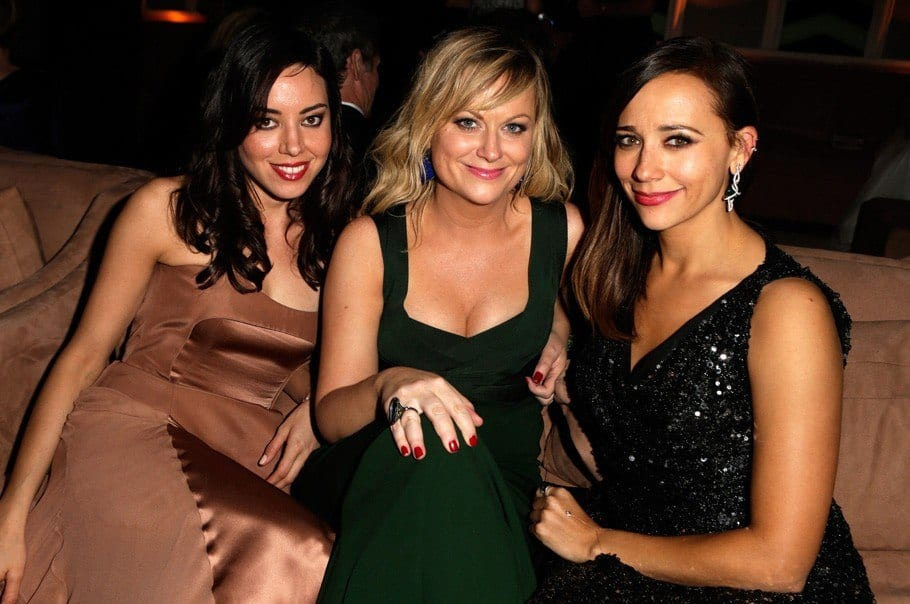 vanity-fair-oscar-party-2013-Aubrey-Plaza-Amy-Poehler-Rashida-Jones