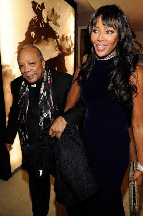 vanity-fair-oscar-party-2013-Quincy-Jones-Naomi-Campbell