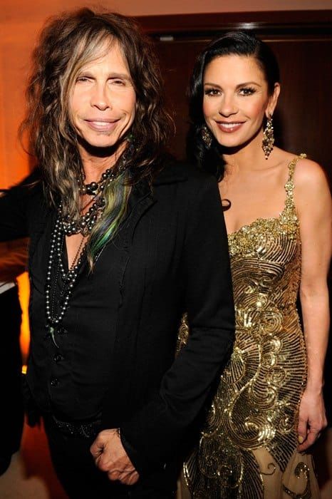 vanity-fair-oscar-party-2013-Steven-Tyler-Catherine-Zeta-Jones