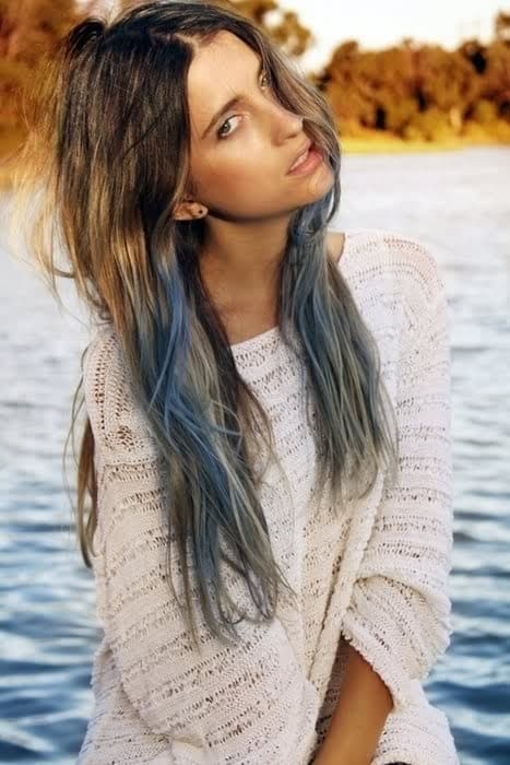 ash blue dip dyed hair color What Are The Biggest Hair Trends For 2013? Get Some Color Inspiration...