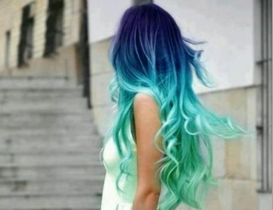 blue green dip dyed hair 2 What Are The Biggest Hair Trends For 2013? Get Some Color Inspiration...
