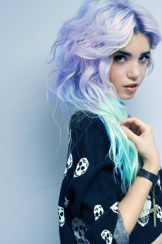 blue green dip dyed hair What Are The Biggest Hair Trends For 2013? Get Some Color Inspiration...