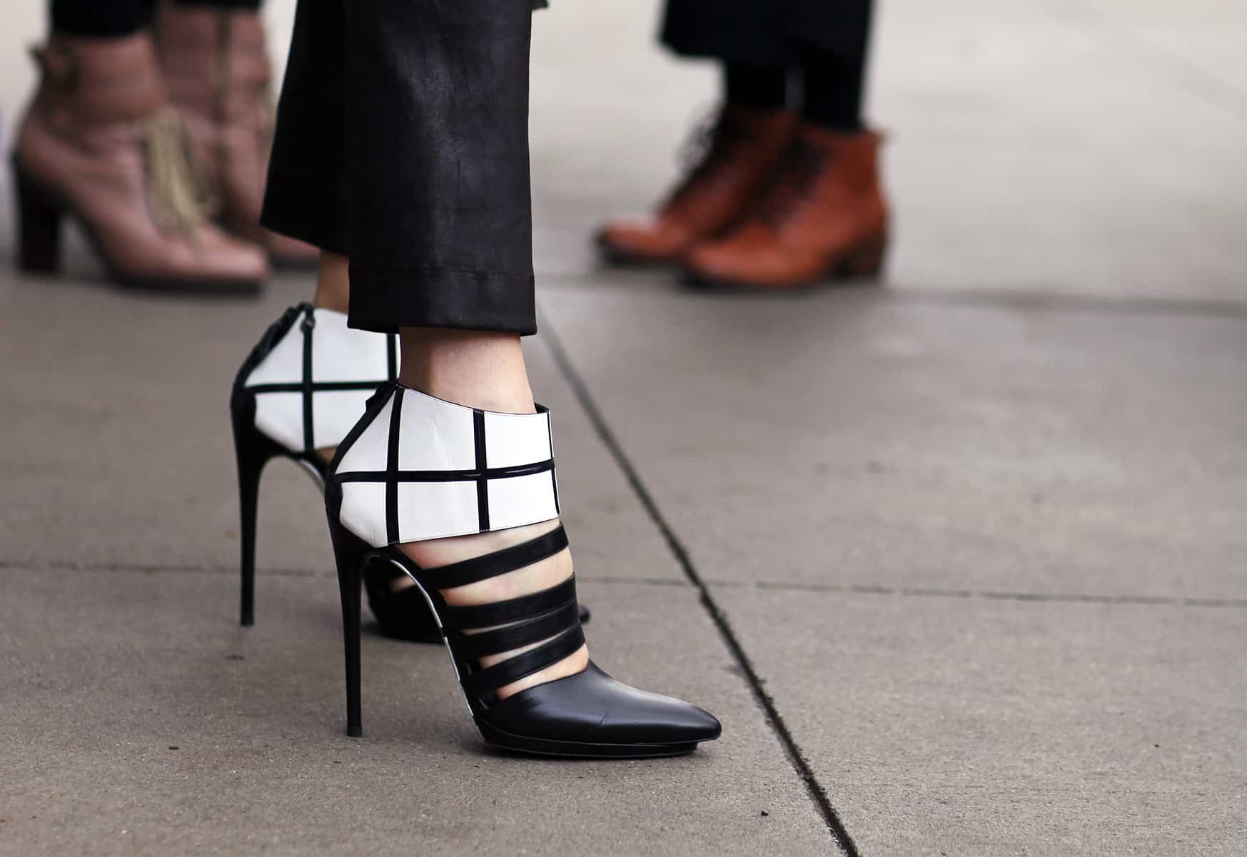 check print balenciaga heels Will The Checkered Obsession Take Over This Spring? YES Or NO To The Checkerboard Print Trend?