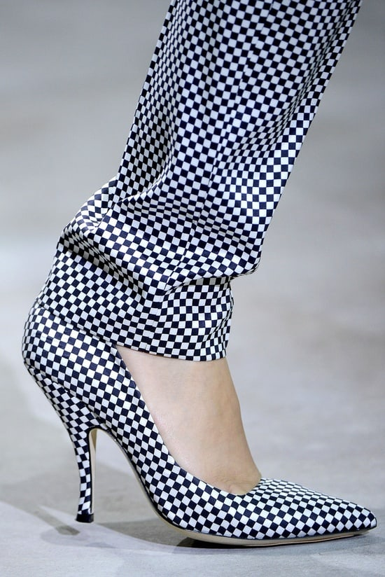 checkerboard style heels pants Will The Checkered Obsession Take Over This Spring? YES Or NO To The Checkerboard Print Trend?