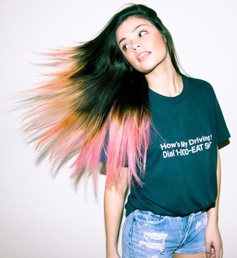 dip-dyed