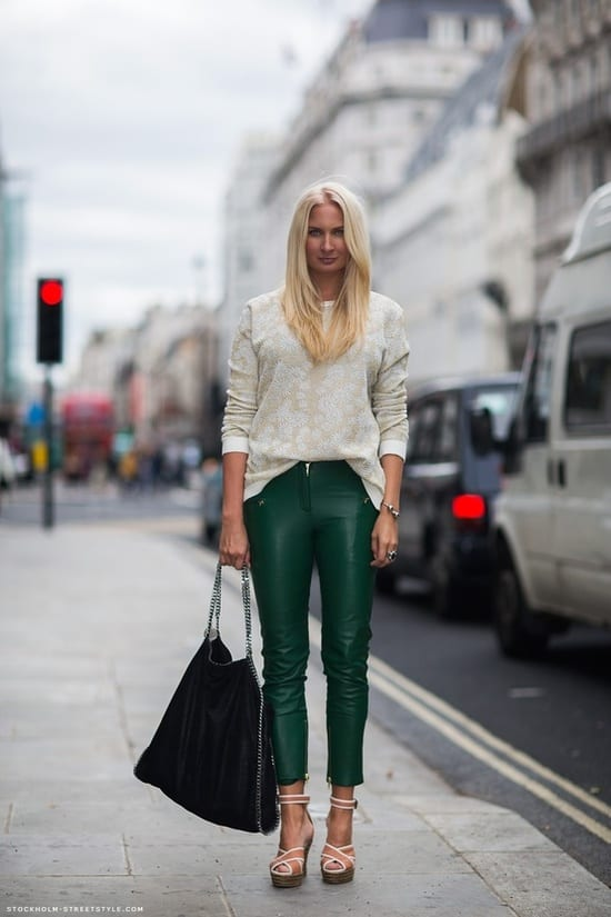 green-leather-pants-st-patrick-day