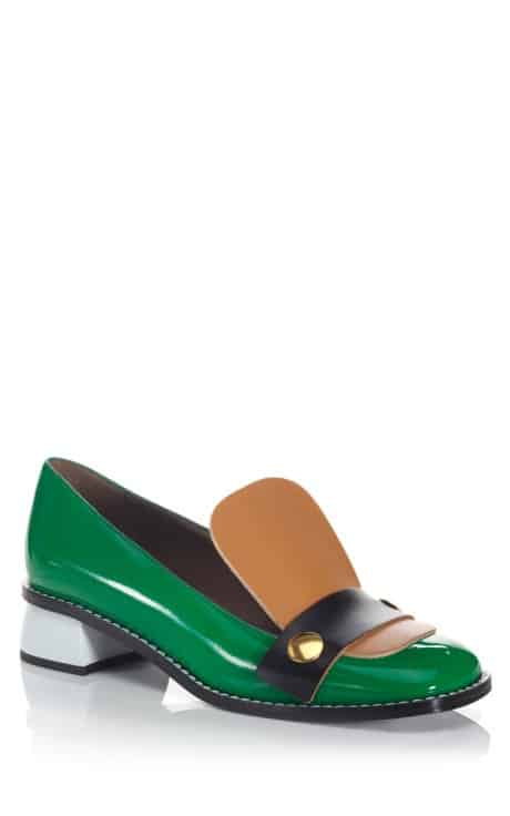 green-loafers-buckle