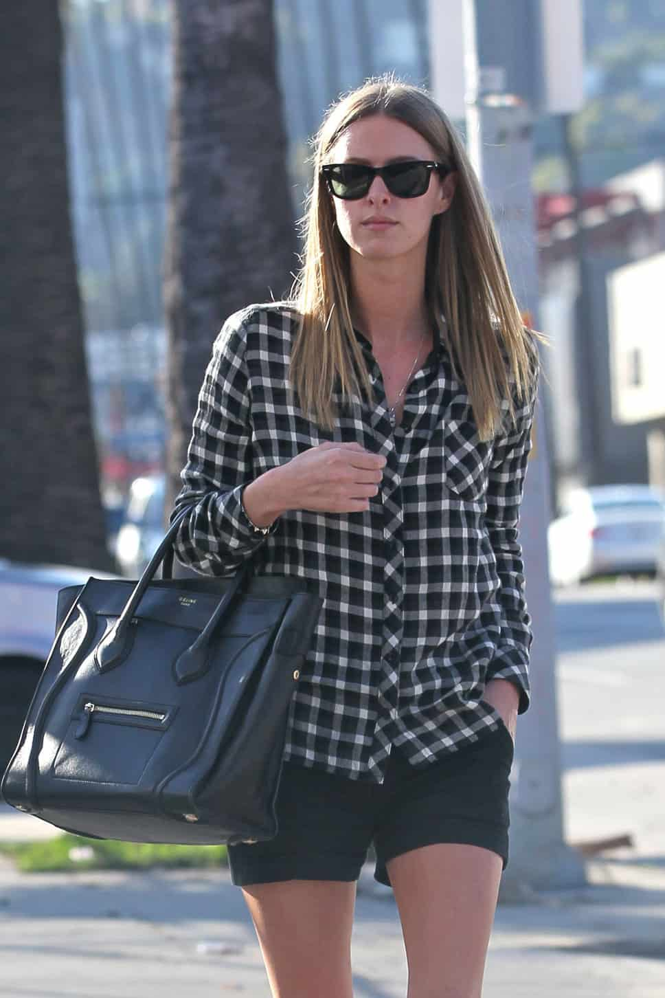 nicky_hilton_checered-shirt