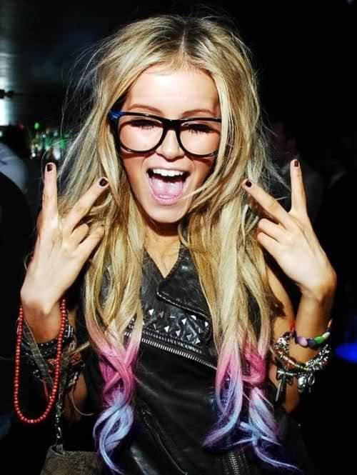 pink blue dip dyed hair What Are The Biggest Hair Trends For 2013? Get Some Color Inspiration...