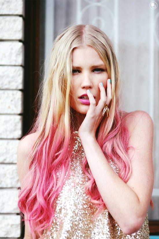 pink dip dyed hair What Are The Biggest Hair Trends For 2013? Get Some Color Inspiration...