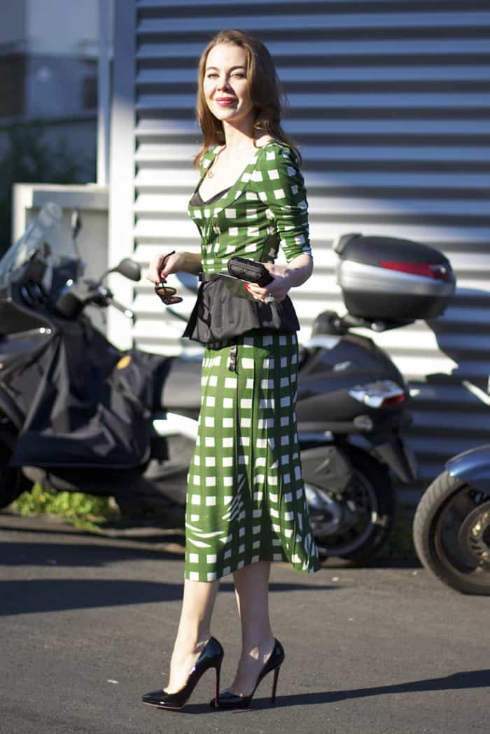 prada check prints street style Will The Checkered Obsession Take Over This Spring? YES Or NO To The Checkerboard Print Trend?
