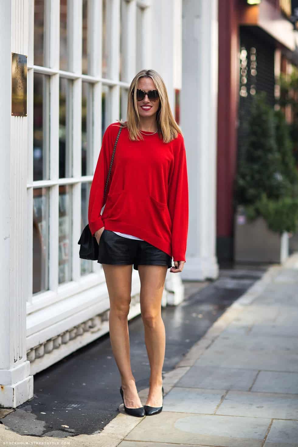 slouchy-sweatshirt-leather-shorts
