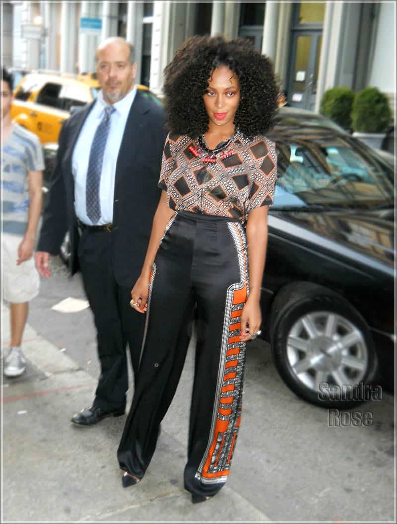 Jessica White and Solange Knowles arrive for the Tribeca Ball at the NY Academy of Art