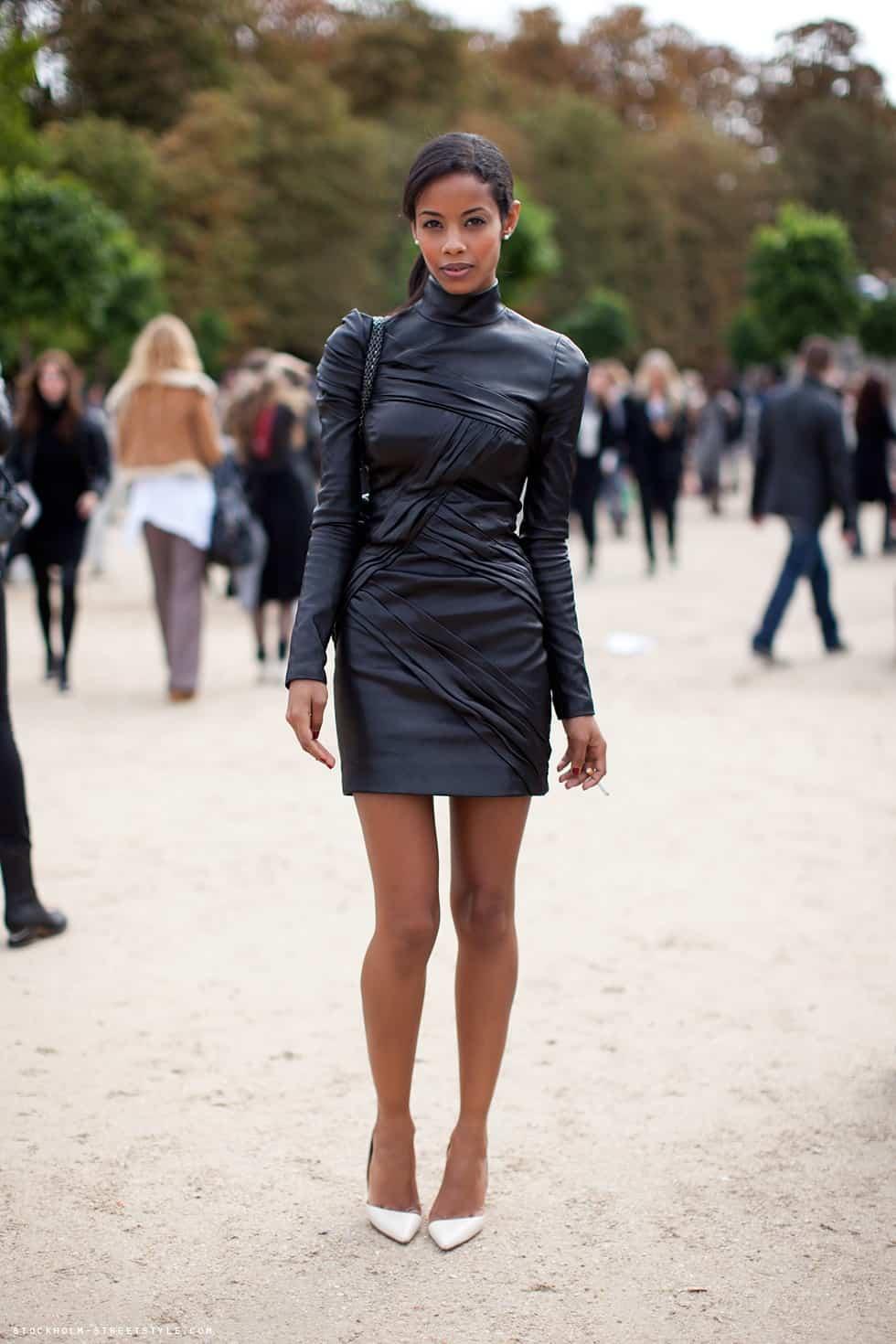 street-style-leather-dress