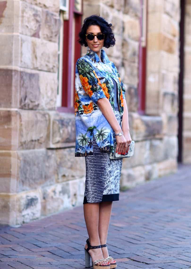 street-style-printed-dress