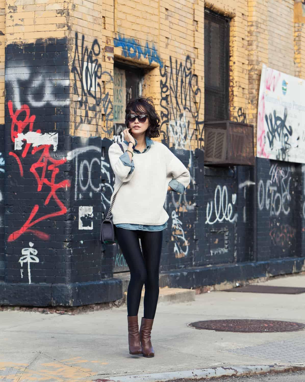 sweatshirt-leather-pants