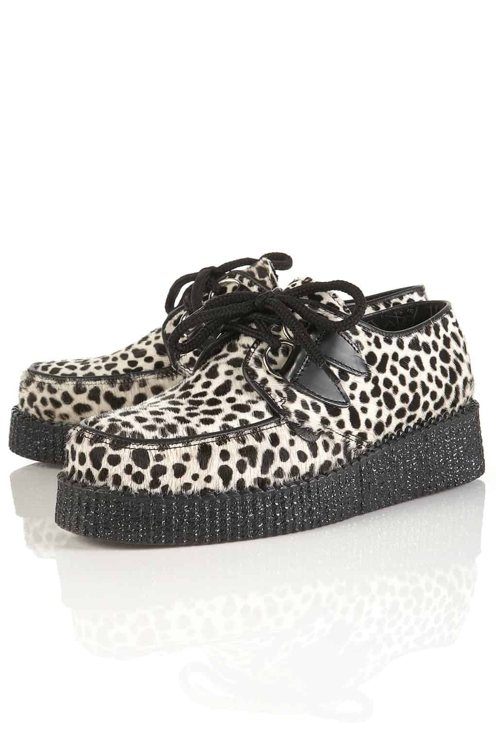 dalmatian print brothel creepers by underground Thick Soles Alert: Are You Loving Creepers Or Not?