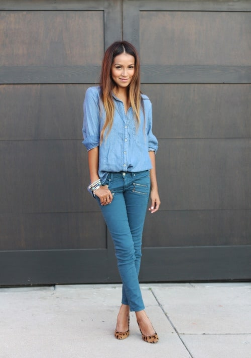 denim-look