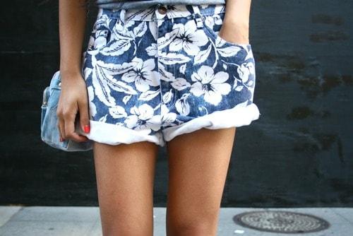 denim-printed-shorts