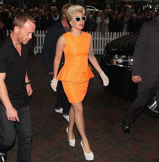 Lady-Gaga-Peplum-dress