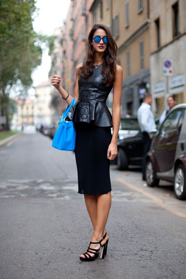 leather-peplum-top