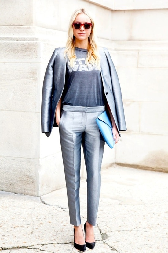 metallic-suit-look