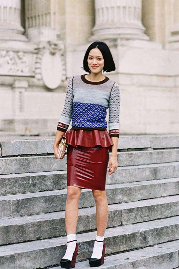 peplum-leather-skirt-style