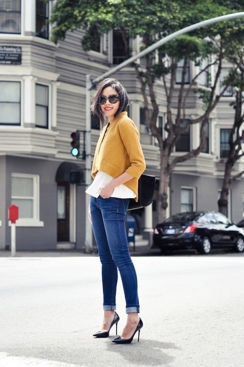 street-style-cropped-jacket-jeans-heels