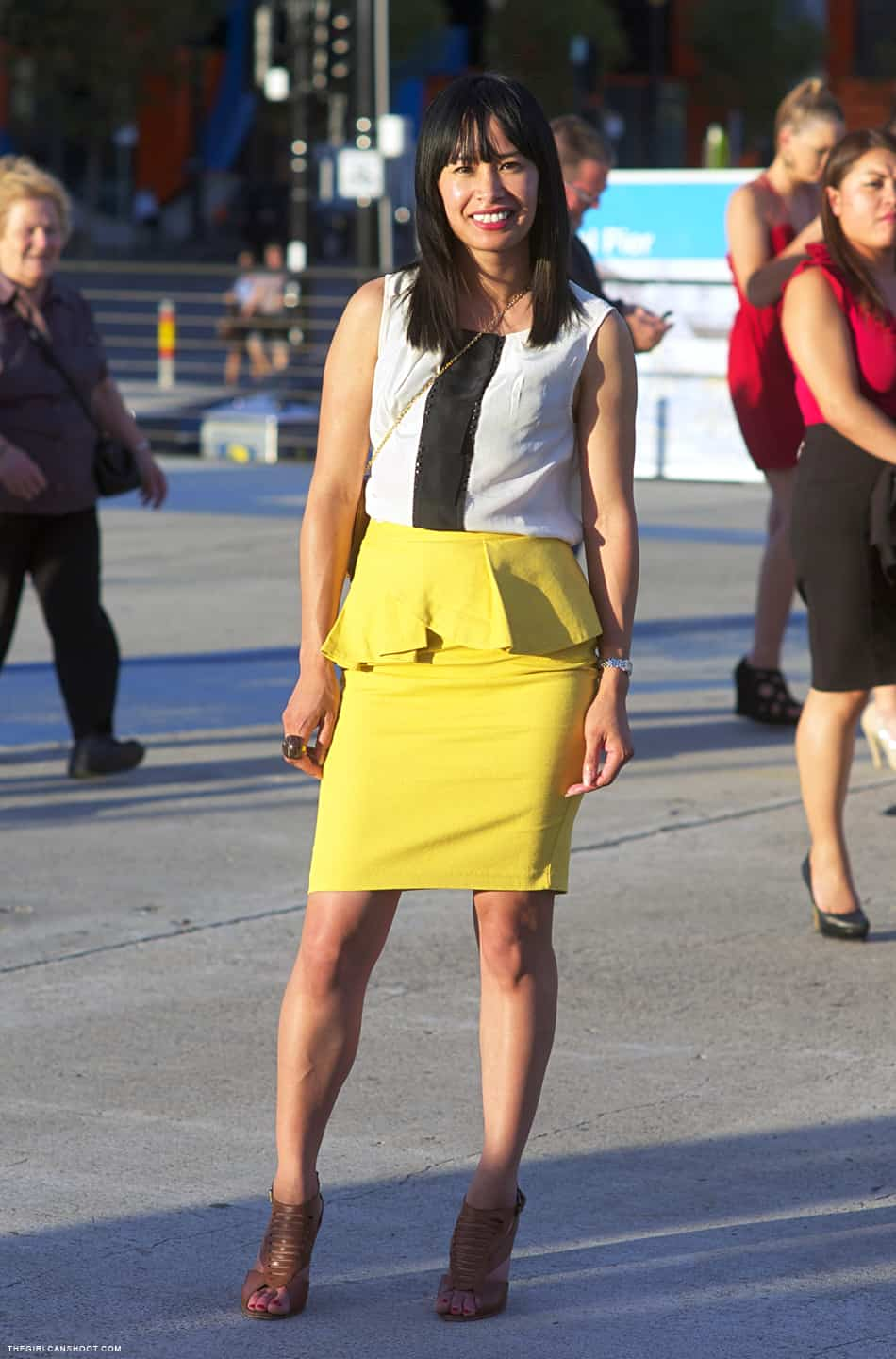 yellow-peplum-skirt