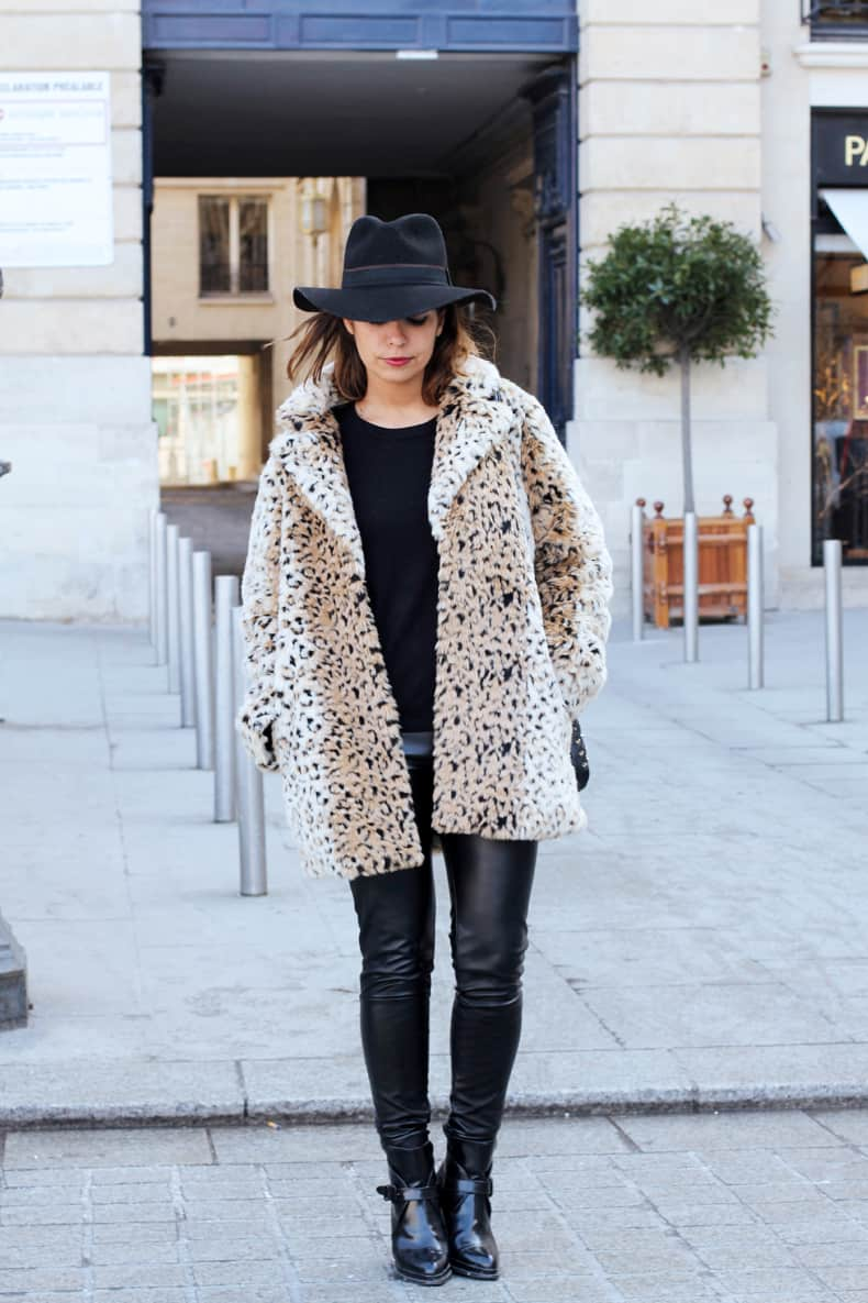 Animal Print Street Style Fake Fur Coat Fashion Tag Blog