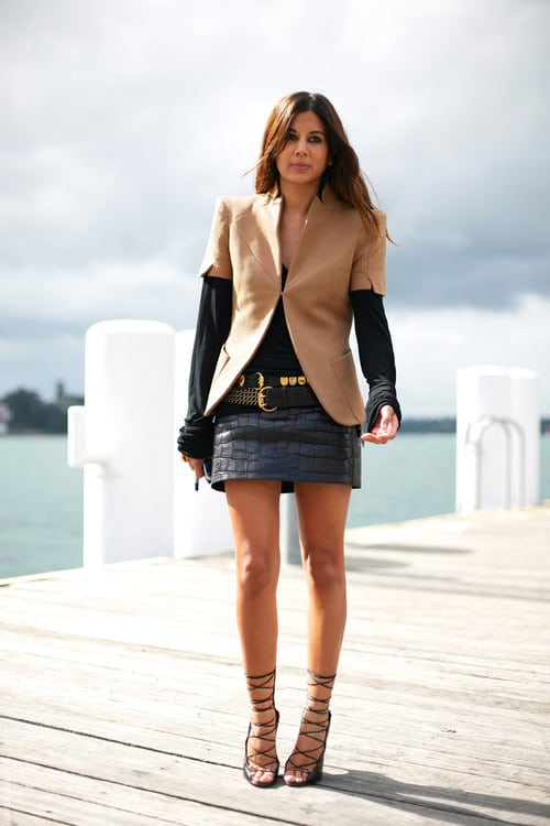 How To Style A Home Fit For A Family: How To Style Black Mini LEATHER SKIRTS?