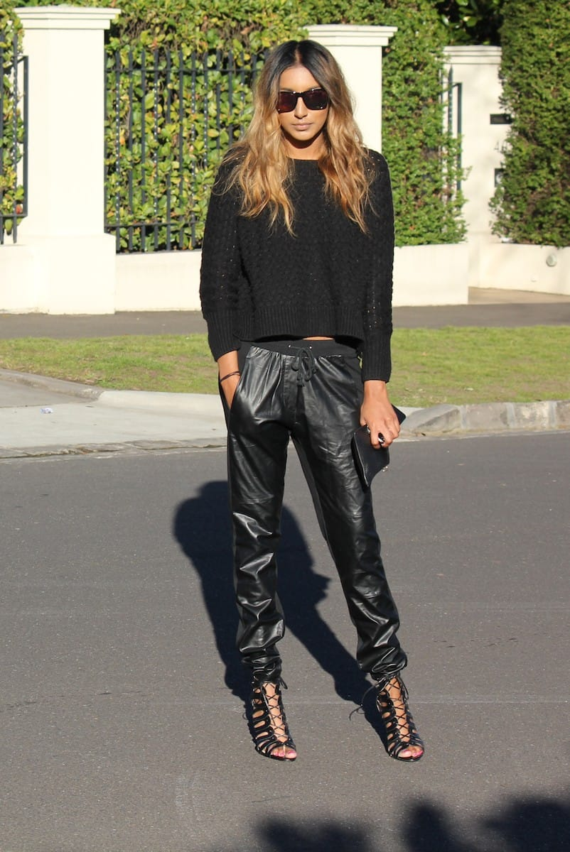 how-to-style-leather-sweatpants