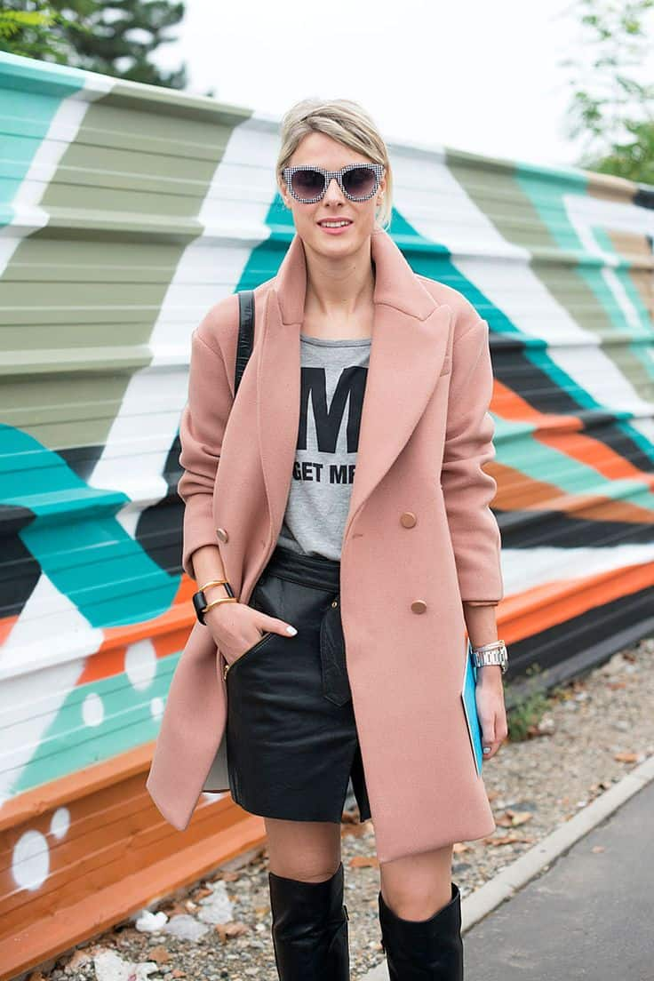 how-to-wear-pink-coats