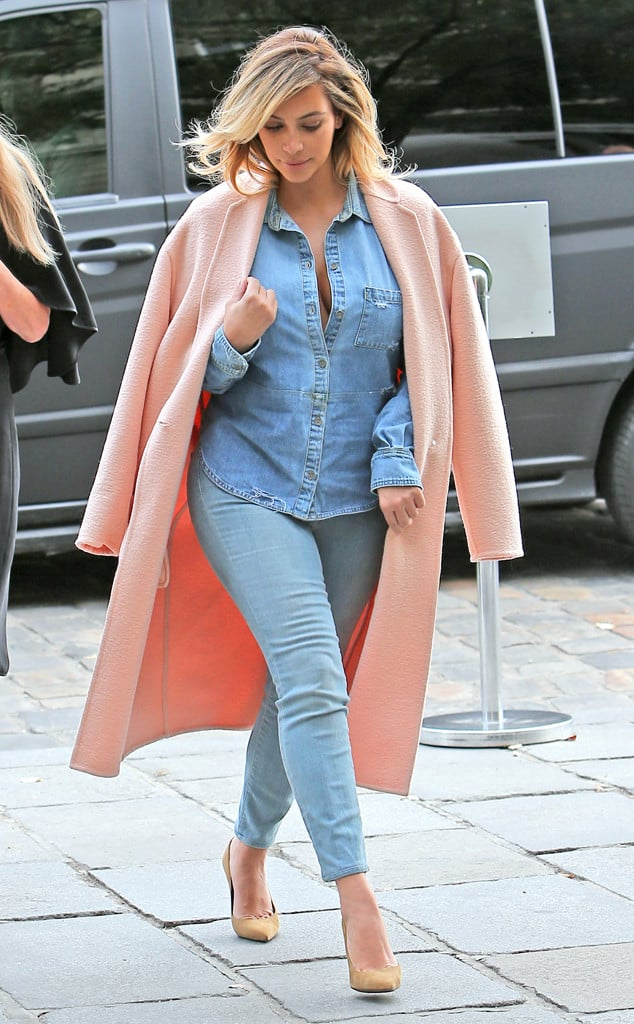 Kim Kardashian Pink Coat Fashion Tag Blog