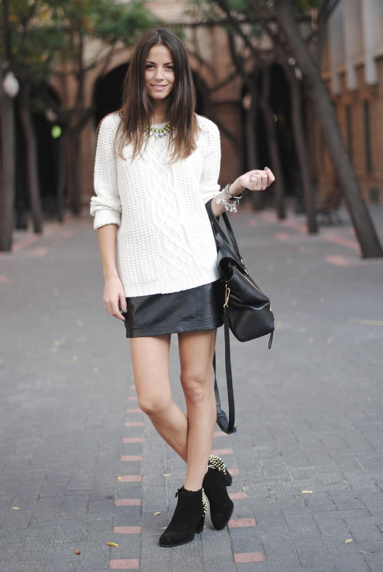 leather-skirt-ankle-boots-style