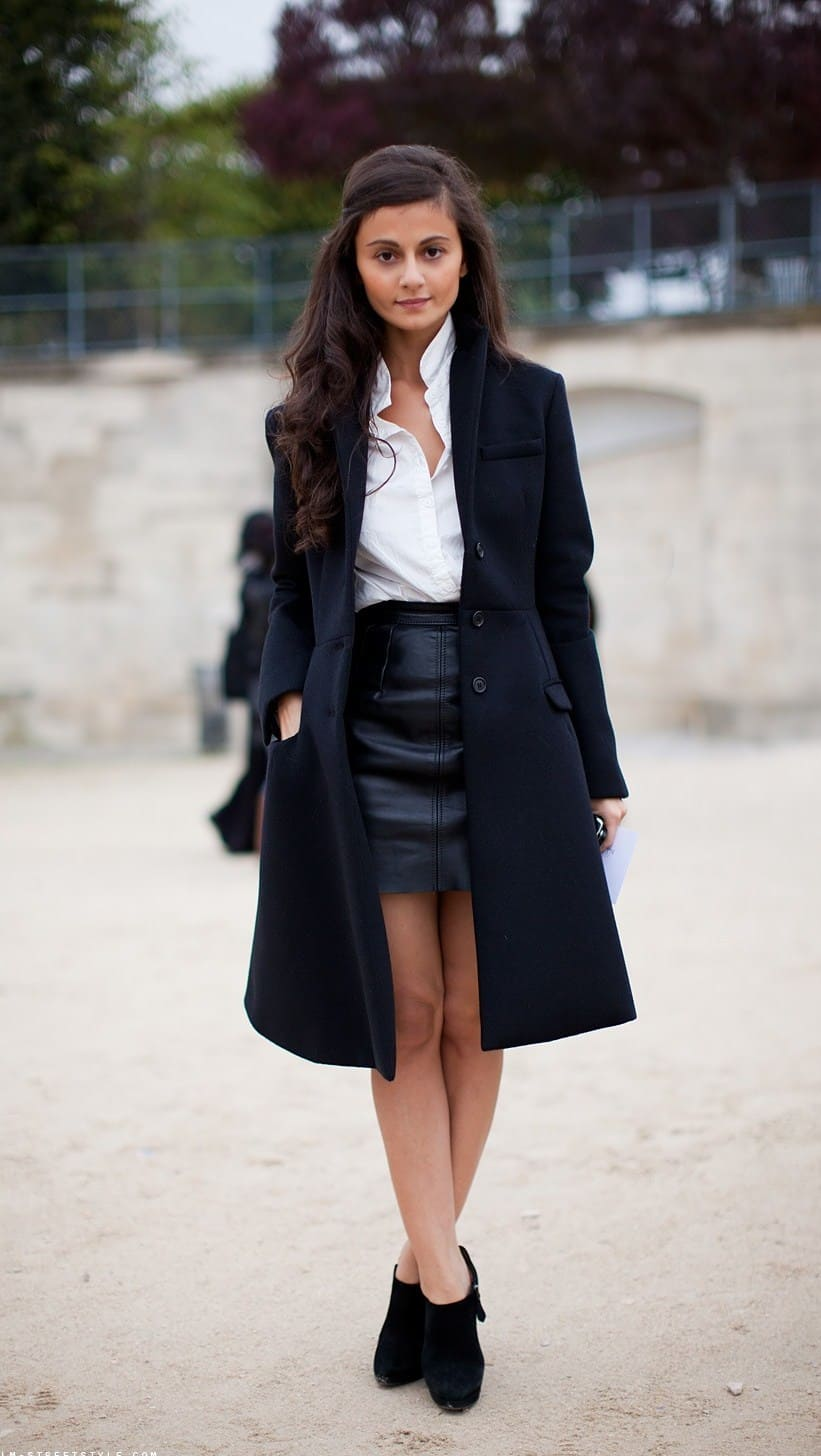how to style black mini leather skirts � the fashion tag blog