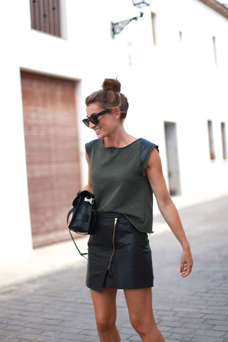 leather skirt fashion are leather skirts in style