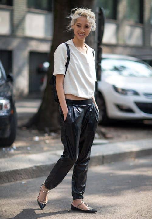 street-style-leather-sweatpantsstreet-style-leather-sweatpants
