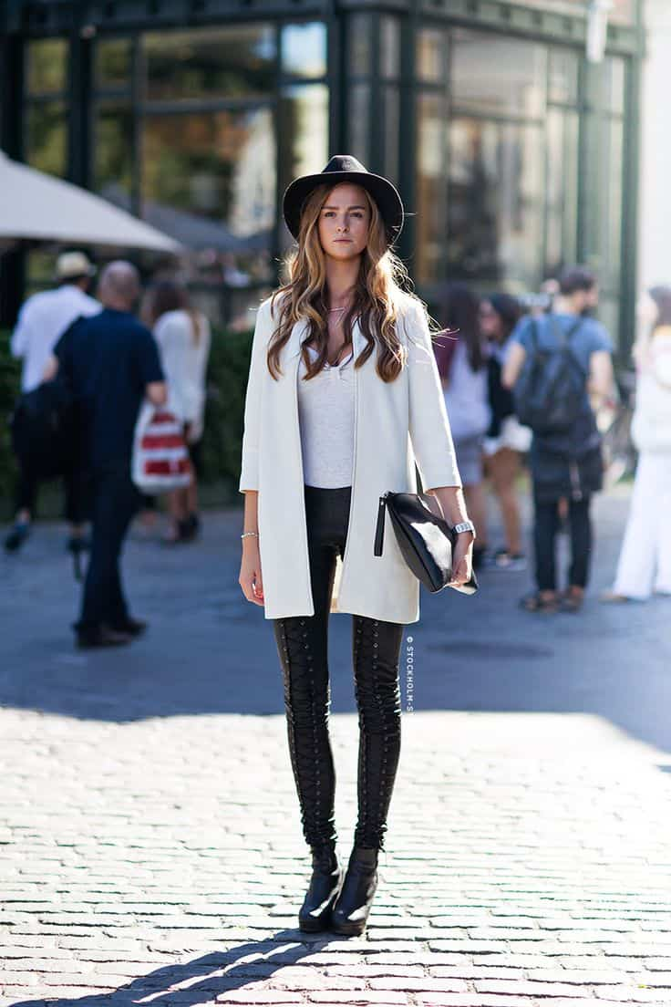 Will you wear white this winter the fashion tag blog Fashion street style pinterest