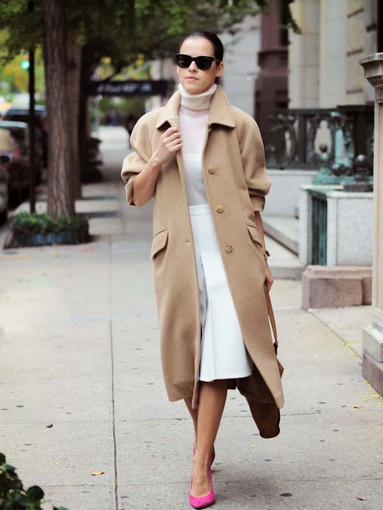 how to wear a camel coat womens