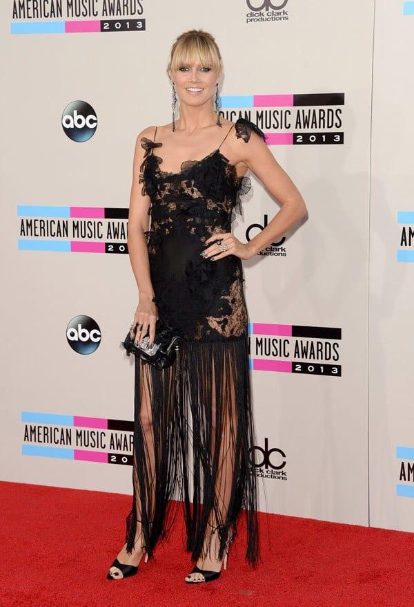 heidi-klum-american-music-awards-2013-red-carpet