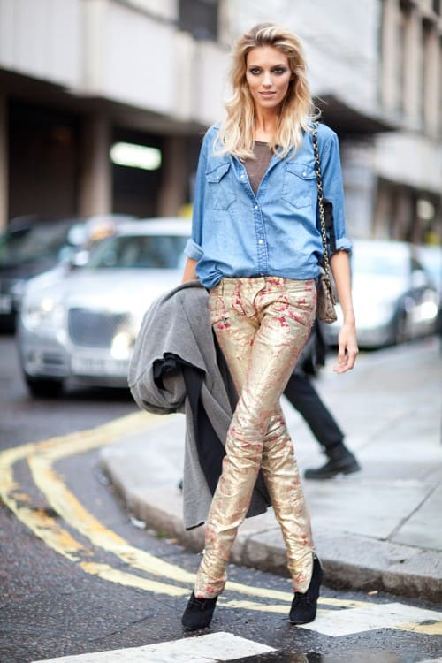 metallic-trousers-streetstyle